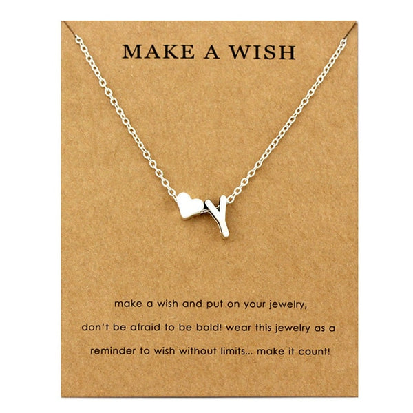 Wish Initial Necklace
