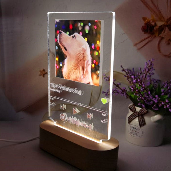 Acrylic Spotify Custom Led lamp | Custom 3D lamp | 3D lamp with spotify note | Personalized Photo lamp 3d
