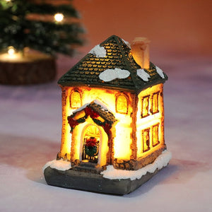 Christmas Lights Resin House