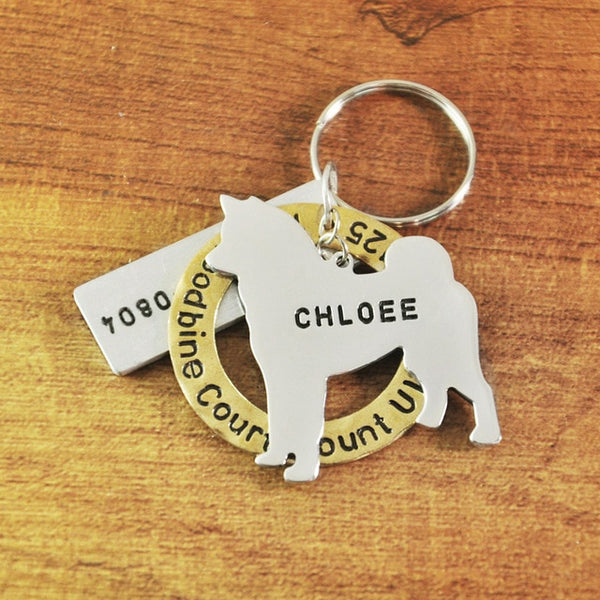 Engraved breed dog tag | Custom dog breed name tag | Personalized Dog name tag with name and address sonrisasstore