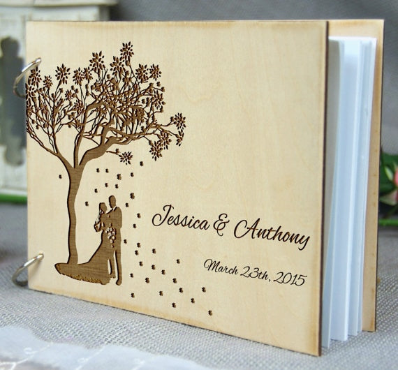d Wedding Guest Book | Custom made wedding Book | Personalized wedding accessories