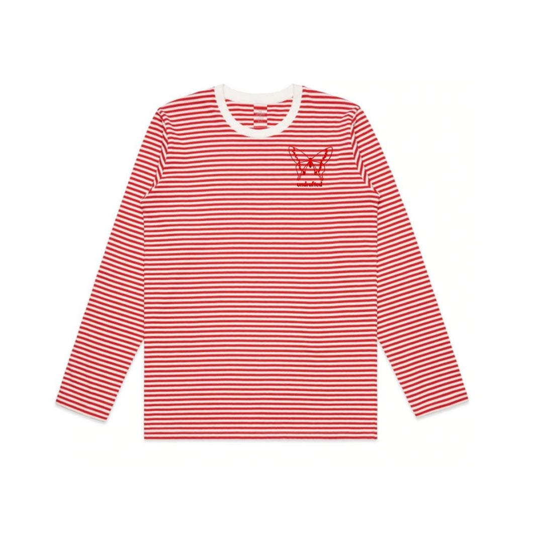 Red Long-Sleeve Striped Shirt