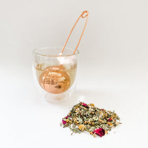 Load image into Gallery viewer, Rose Gold Tea Infuser