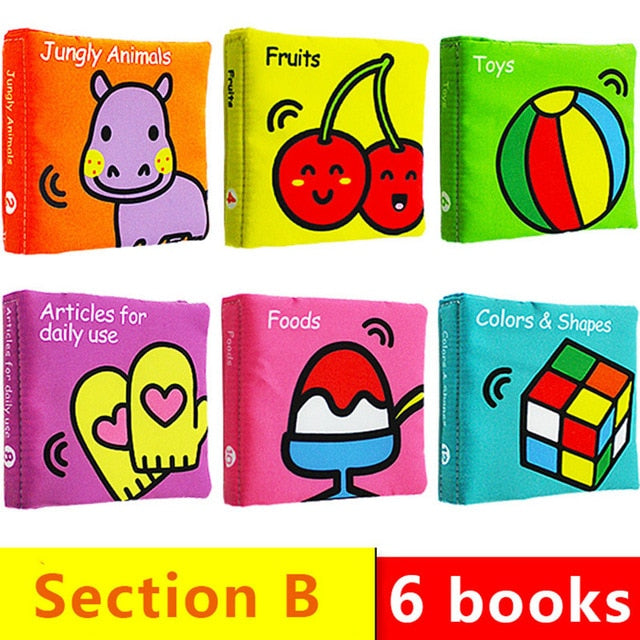 Baby's Rainbow Cloth Book Toys