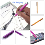 2in1 Capacitive Pen Touch Screen Drawing Pen Stylus with Conductive Touch Sucker Microfiber Touch Head for Tablet PC Smart Phone