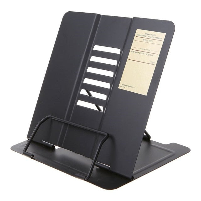 Portable Metal Adjustable Reading Book Holder Support Document Shelf Bookstand l29k