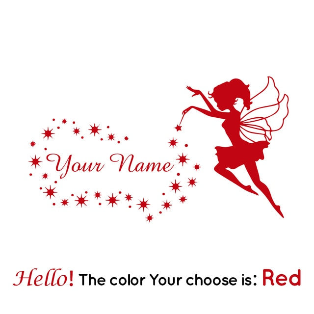 Fairy Custom Name Wall Sticker