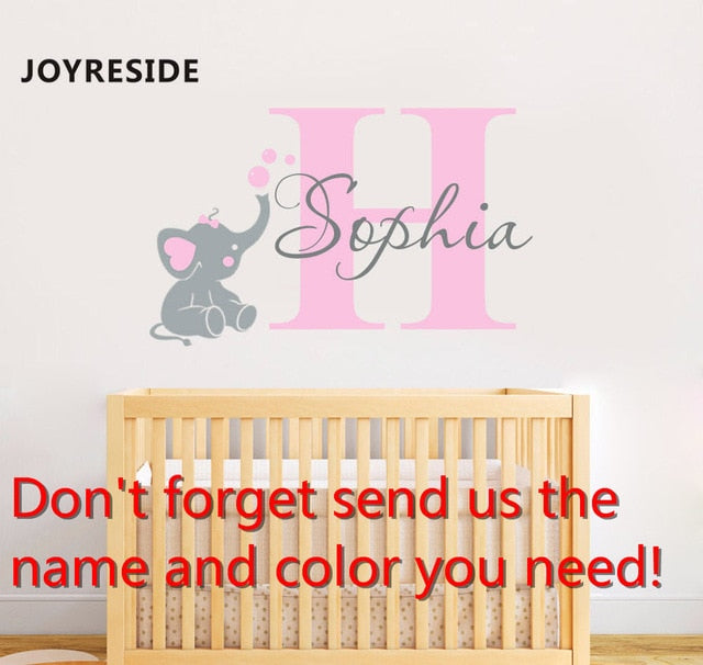 Personalized name baby bedroom