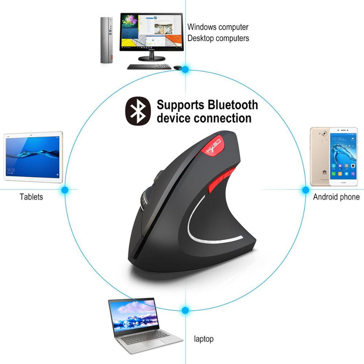 Vertical Ergonomic Mouse Bluetooth Gamer Mouse KIT USB Rechargeable Gaming 2.4G Wireless Mause For PC Laptop Notebook Computer