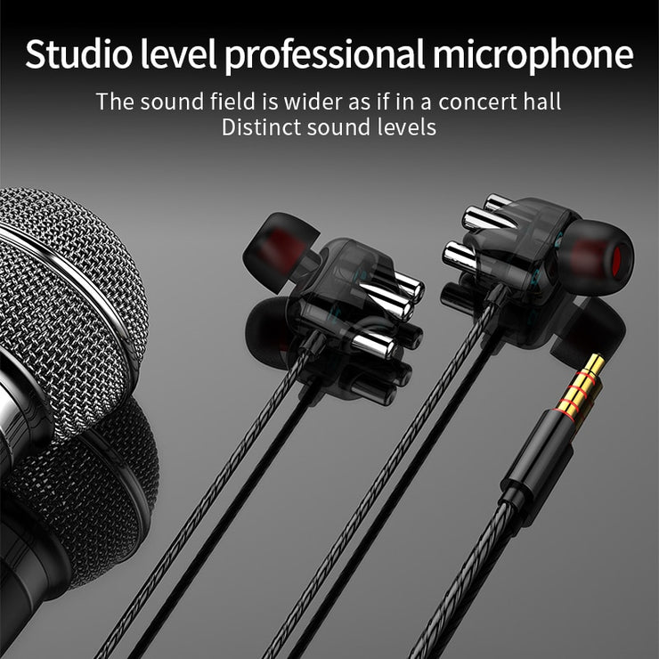 In-ear wired earphone Sports in-ear Earphone music Earphone is suitable for high quality wired Earphone ForPhone samsang type-c