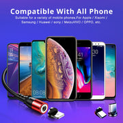 ANMONE Micro USB Magnetic Cable  Type C Cable Fast Charging Wire For iPhone Samsung Huawei Xiaomi Redmi Android USB Charger Cord