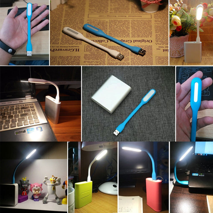 Foldable Super Bright USB Led Book Light Portable Reading Lamp Light 5V 1.2W Table Lamp for Power Computer Laptop Night Lighting