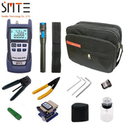 12pcs/set Fiber Optic FTTH Tool Kit with FC-6S Fiber Cleaver Optical Power Meter 5km Visual Fault Locator Wire stripper