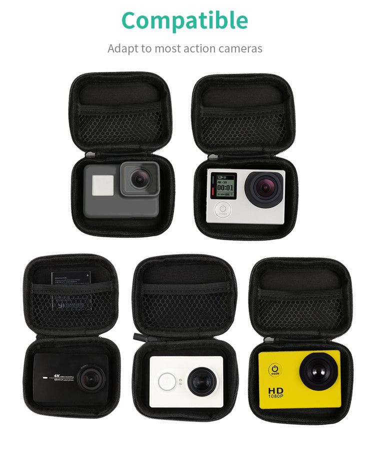 Portable Small Size Waterproof Camera Bag Case for Xiaomi Yi 4K Mini Box Collection for GoPro Hero 9 8 7 6 5 4 Sjcam Accessories