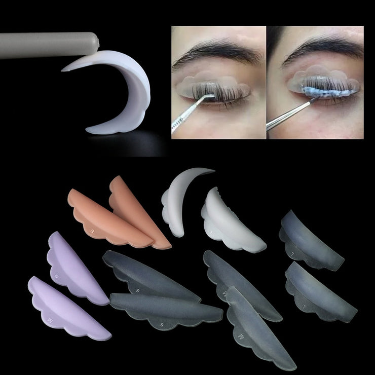 GLAMLASH 6pcs Eyelash lifting Silicone pads set Eye lash extension lift perming kit tool Eyelash Lift Curlers Curl Shields pads