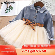 Girls Dresses Spring With belt