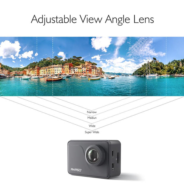 AKASO V50 PRO 4K 30fps 20MP WIFI Action Camera ELS Touch Screen Outdoor Extrems Sport Helmet Camera Underwater Waterproof Camera