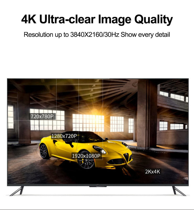 HDMI 4K 1080P 2.0 Cable  4K@30Hz HDR ARC Ethernet Video for HDTV Splitte Switcher 1080P 3D HD for TV PS4 NS Projector Amplifier