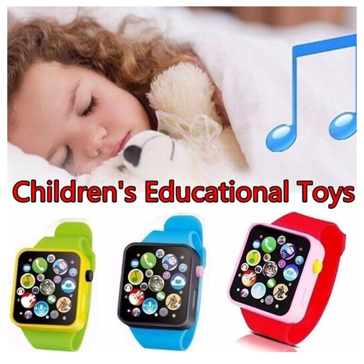 6 Colors Children Kids Early Education Toy Touch Screen Music Smart Teaching Baby Wrist Watch Toy Birthday Gifts