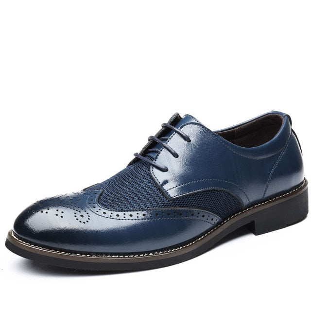 Classic Men Dress Leather Shoes Breathable Dress Shoes High Quality Business Male Shoes Wear-Resistant Men Footwear