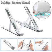 Foldable Laptop Stand Adjustable Notebook Stand Portable Laptop Holder Lightweight Laptop Cooling Stand For MacBook Air Pro ipad