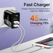 Quick Charger 3.04.0 USB Charger For iphone Samsung Tablet EU US Plug Wall Mobile Phone Charger Adapter Fast Charging Adapter