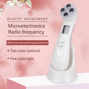 Facial Mesotherapy Electroporation RF Radio Frequency LED Photon Face Lifting Tighten Wrinkle Removal Skin Care Face Massager
