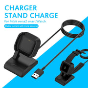 Desktop Dock Station Vertical Charger For Fitbit Versa 2 Smart Watch  Base Holder USB Charging Cable Cord Stand Versa2 Charger