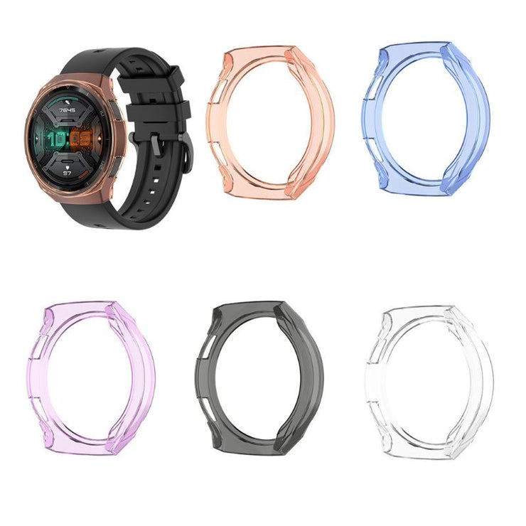 Clear TPU Protector Bumper Watch Frame Case Cover for Huawei GT 2e Smart Watch Band Strap Bracelets Accessories GT2e Shell