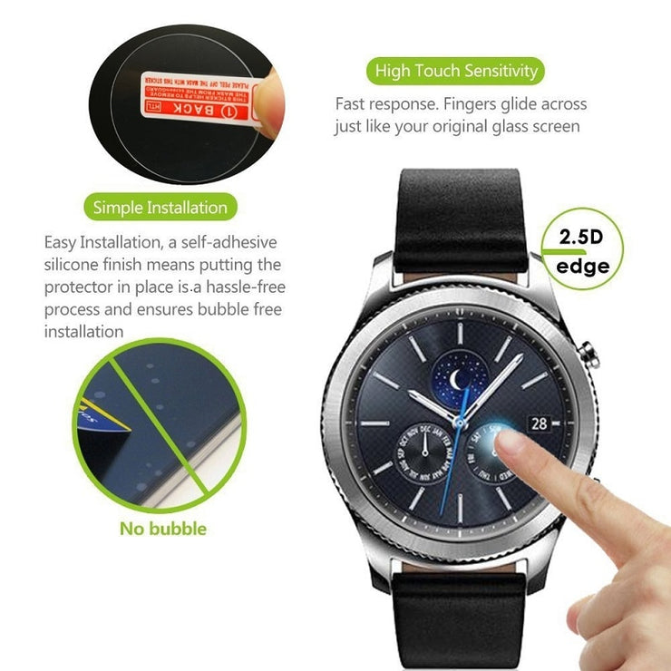 10PCS Round Smart Watch Tempered Glass Screen Protector Diameter 24mm 25mm 26mm 27mm 28mm 29mm 30mm 31mm 32mm Protective Film