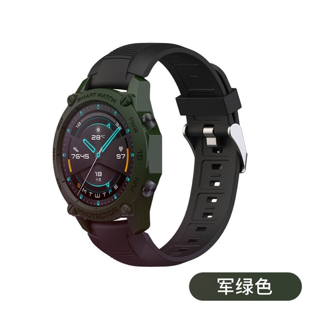 SIKAI TPU Watch Cover for Huawei GT2 46mm Colorful  Smart Watch Case Protection Shell