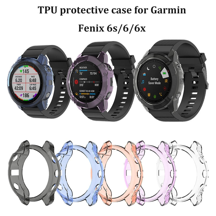 Case for Garmin Fenix 6/6s/6X pro sapphire Smart watch accessories cover TPU material shell anti shock easy install case
