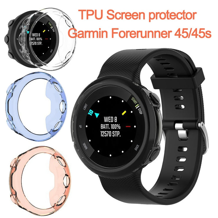 TPU for Garmin Forerunner 45/45s  Screen Protection Cover case for Garmin Forerunner 245/245M Smart Watch Protective