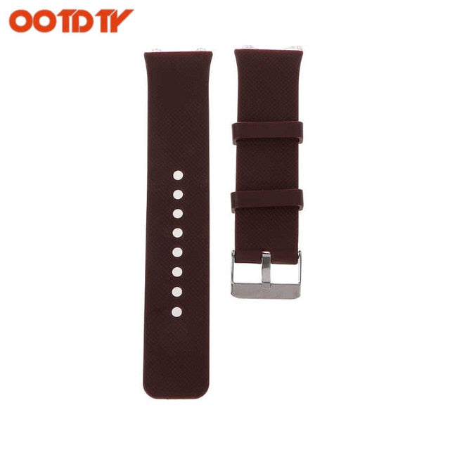 OOTDTY 3 Colors Silicone Wrist Band Strap Metal Buckle Bracelet Replacement For DZ09 Smart Watch dropshipping