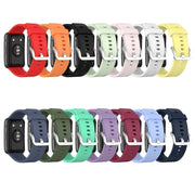 "1PC Replacement Silicone Wrist Sport Strap Watch Band for -HUAWEI Watch Fit Smart Watch 1.64"" Vivid AMOLED Display"