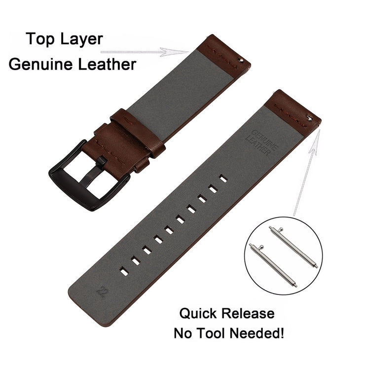 Genuine Leather Strap for Xiaomi huami Amazfit Bip BIT Black Strap for Lite Smart Watch for Samsung Gear S3 S2 bracelet Strap