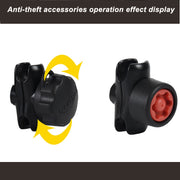JINSERTA Mixed Combination Anti Theft Pin-Lock Security Knob and Key Knob for ram mount 1 inch Diameter B Size Arm Socket
