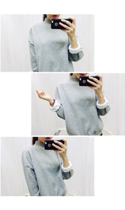 Wholesale M-XXL Cute Women Hoodies Pullover 9 colors 2020 Autumn Coat Winter Loose Fleece Thick Knit Sweatshirt Female