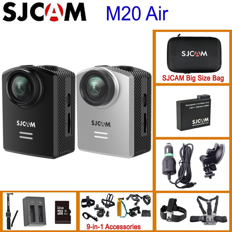 SJCAM M20 Air WiFi Mini Action Helmet Sports Camera 30M Waterproof 1296P NTK96658 12MP 140 Degrees Lens 1.5' LCD Low Consumption