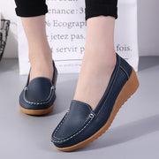 Women Flats Leather Shoes