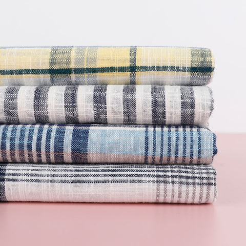 linen gingham - The Fabric Store Online