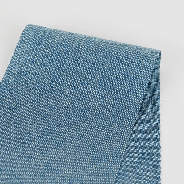 5oz Cotton Chambray - Mid Blue - buy online at The Fabric Store