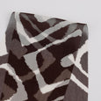 Arabesque Print Silk Crinkle Chiffon - Chocolate