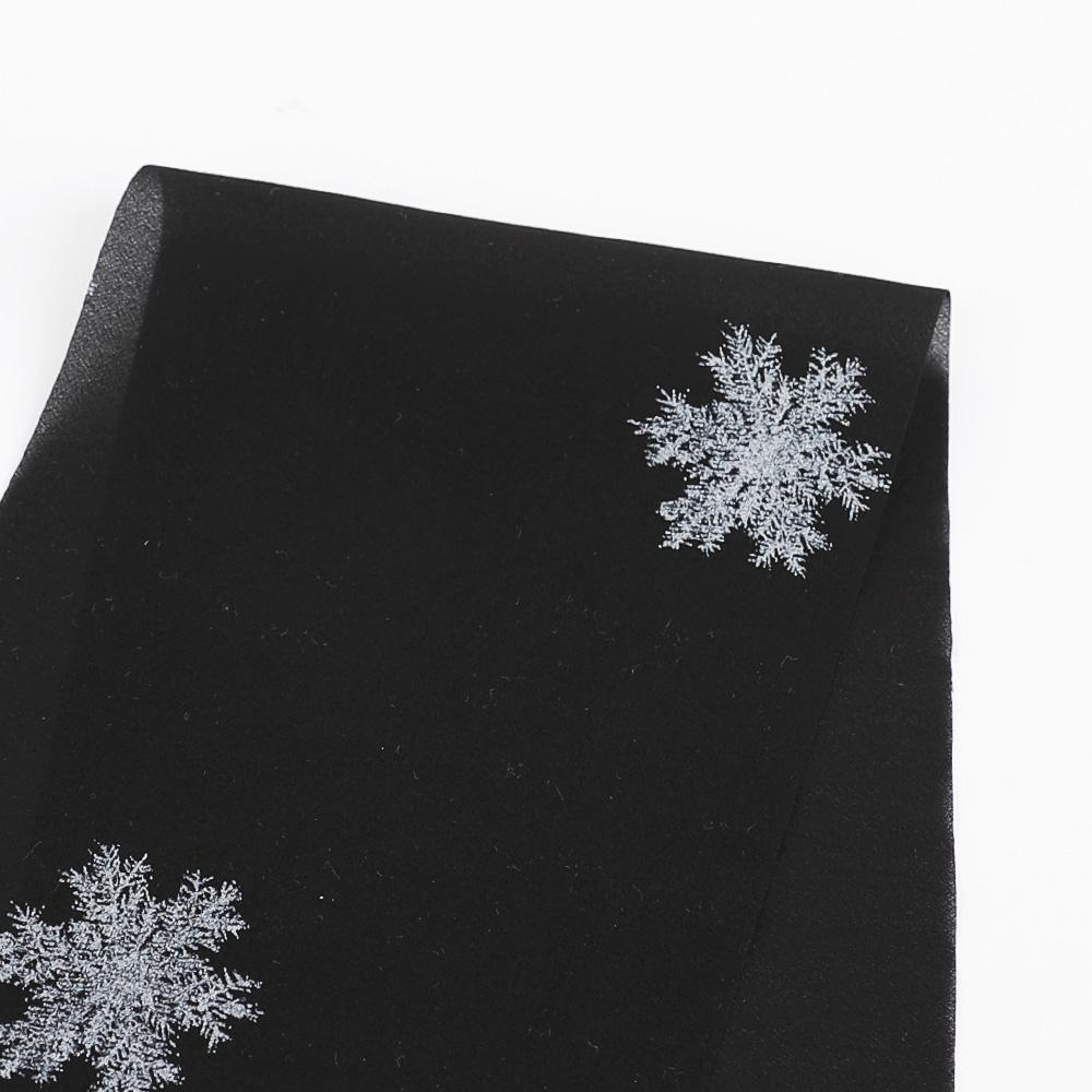 Snowflake Stretch Silk - Black
