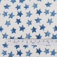 Star Stamp Viscose Crepe - Blue ?id=28098845212753