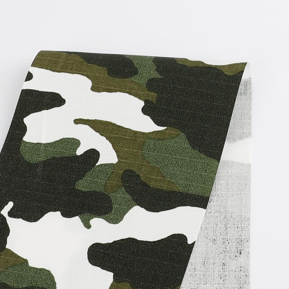 Camo Print Cotton Ripstop - Green - Buy online at The Fabric Store
