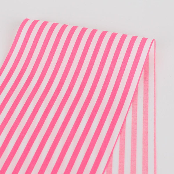 Candy Stripe Cotton - Fluro Pink ?id=28098912092241