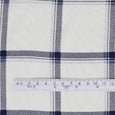 Printed Twill Check Viscose Georgette - Ivory ?id=16568168808529