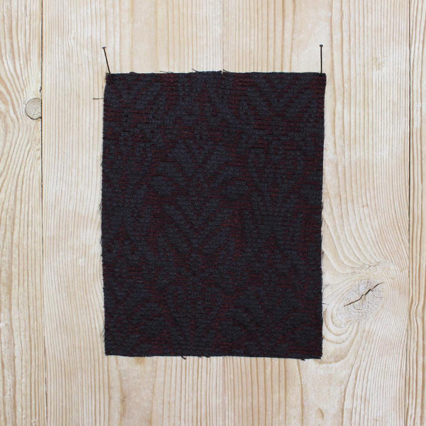 Chenille Renaissance Jacquard - Port / Black - buy online at The Fabric Store