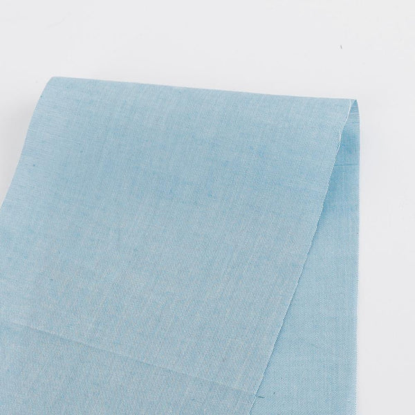Cotton Chambray - Sky Blue - buy online at The Fabric Store